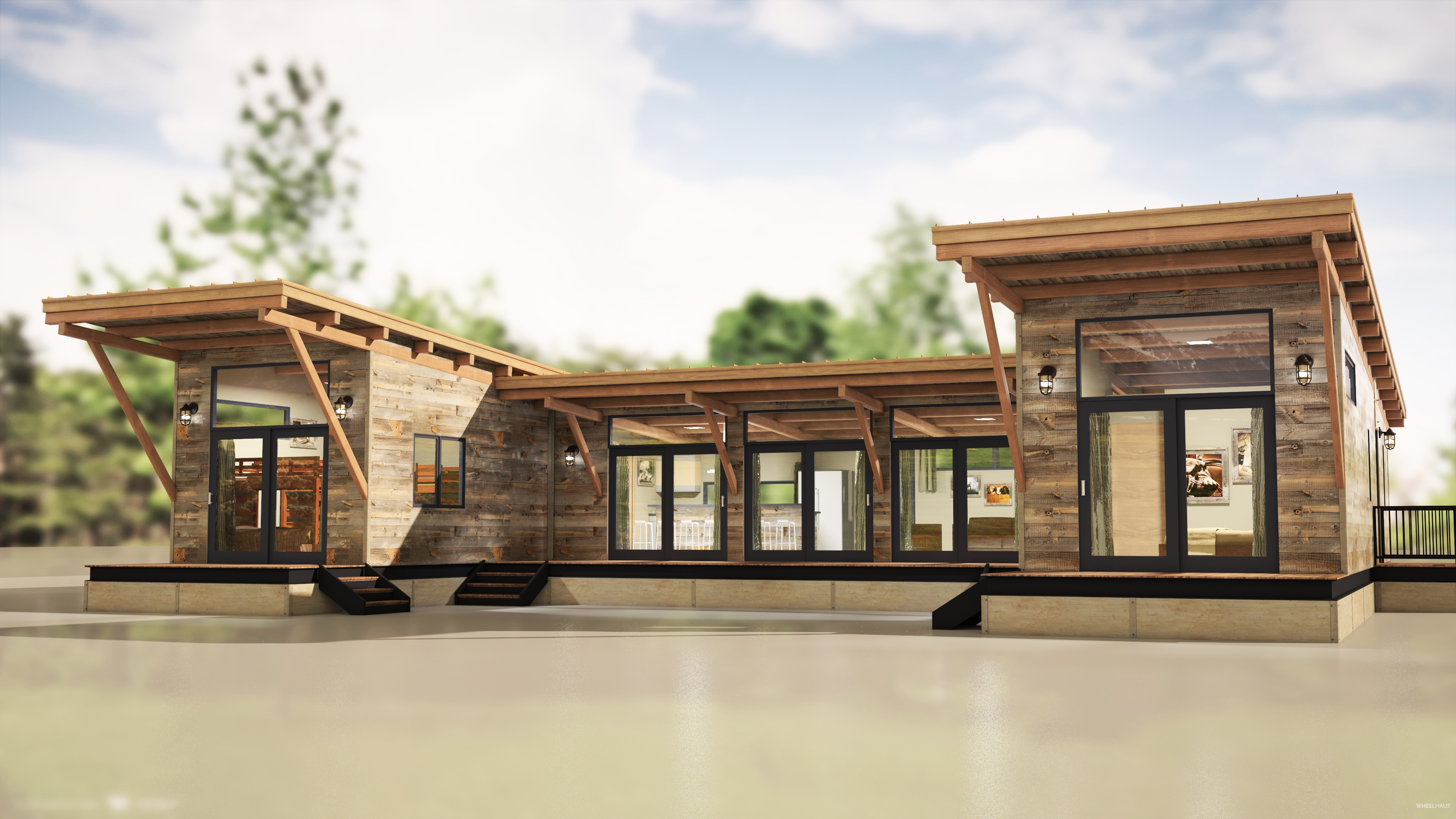 Hitch haus 1500 wheelhaus for Contemporary model homes