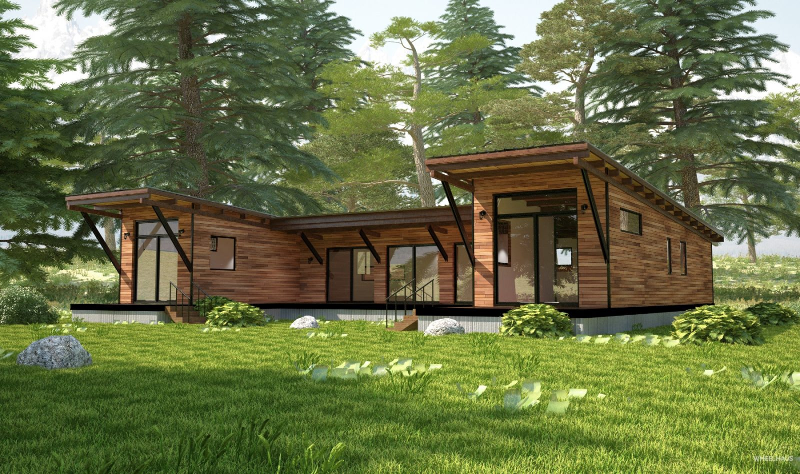 Hitch haus 1500 wheelhaus for 2 bedroom prefab cottage