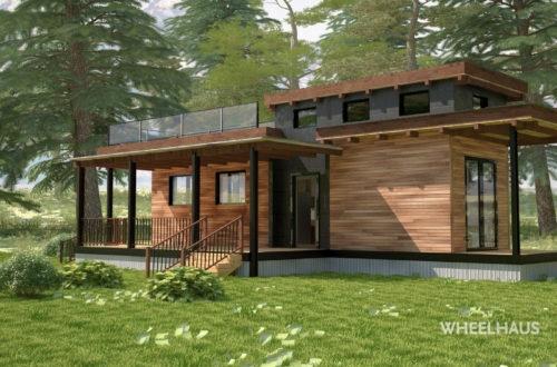 Prefab Modern Cabin prefab modular homes modern Flat Roof Caboose