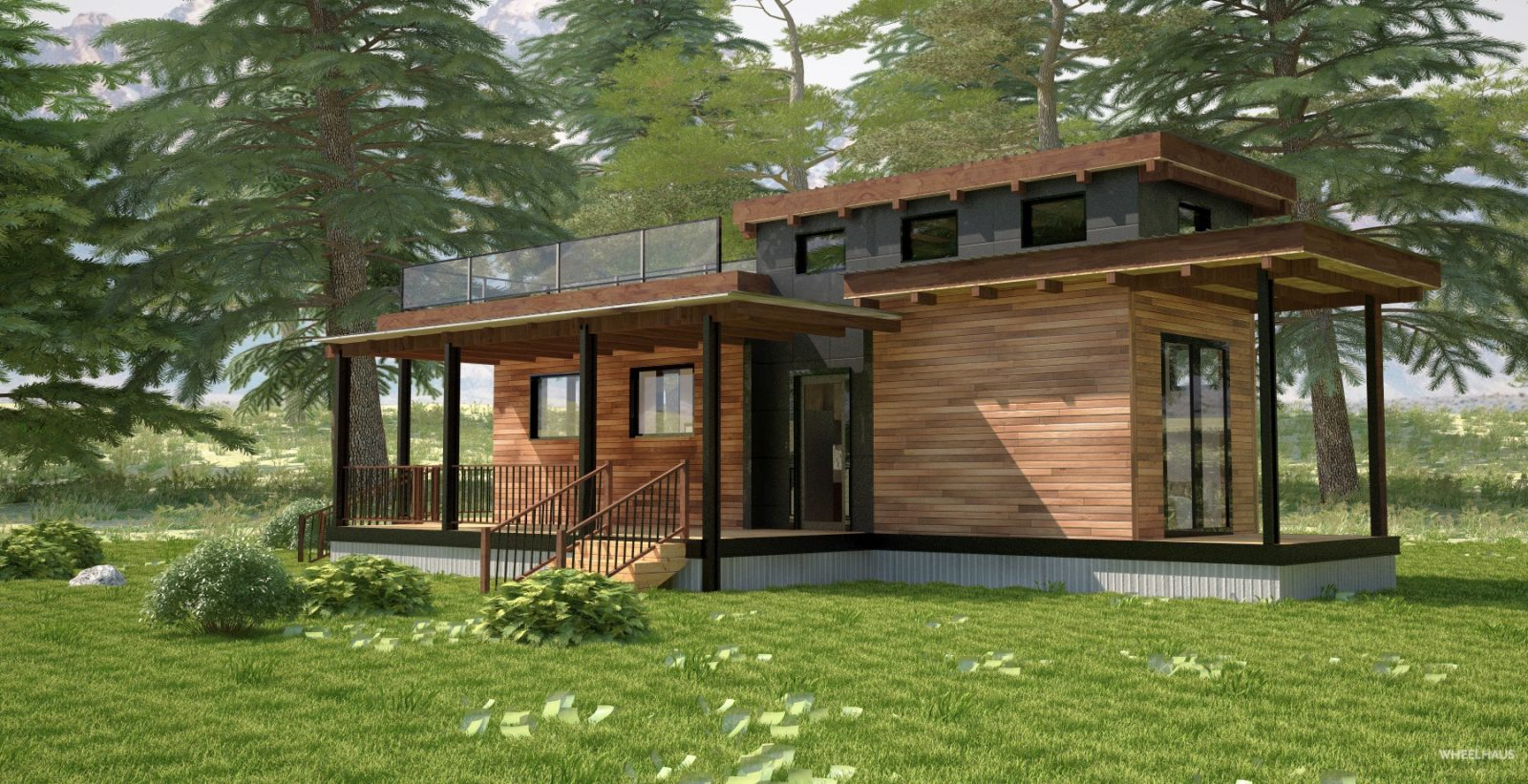 Flat roof caboose wheelhaus for Kitchen designs zambia